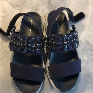 Zara jeweled platform sandal